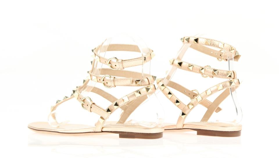 266e3c709b41 Valentino Rockstud Studded Ankle Strap Flat Pink Sandals Image 11.  123456789101112
