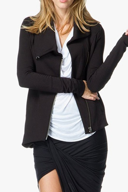 Helmut Lang Stretchy Asymmetric Black Jacket