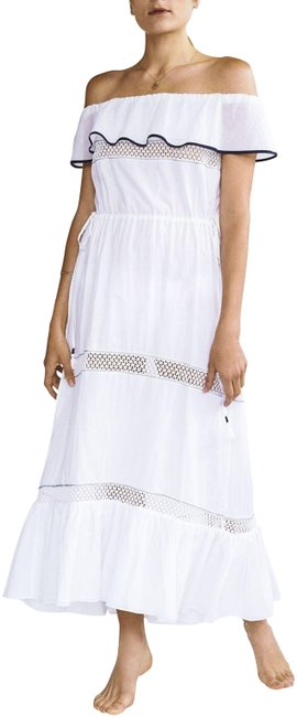 """Item - Intermix """"Olympia"""" White Off The Shoulder Sz.s Casual Maxi Dress Size 4 (S)"""