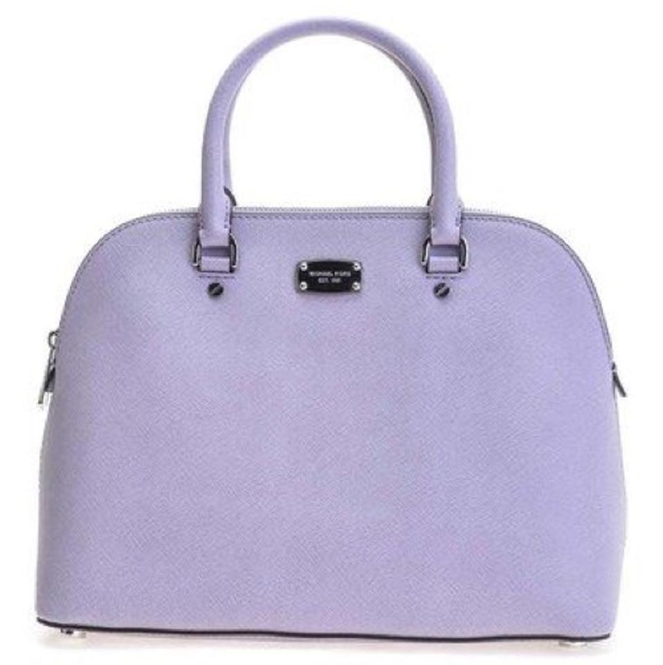 1458a1d39bee Michael Kors Cindy Large Some Lilac Saffiano Leather Satchel - Tradesy