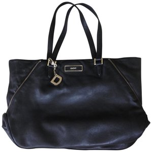DKNY Leather Tote in Black