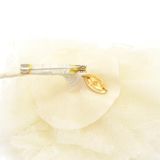Chanel Chanel White Tulle Flower Brooch Pin
