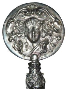 Other 925 Sterling Silver Antique Art Nouveau Hand Mirror