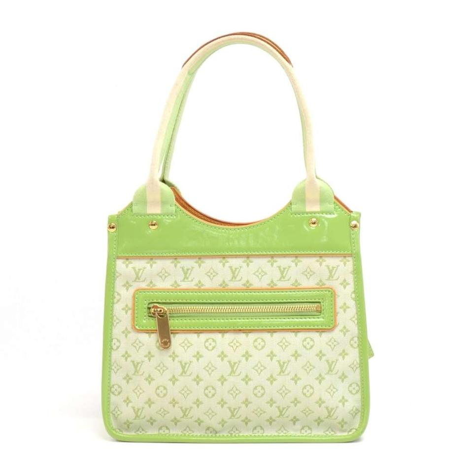 0f888651b Louis Vuitton Sac Kathleen Light Mini Monogram Handbag Green Canvas ...