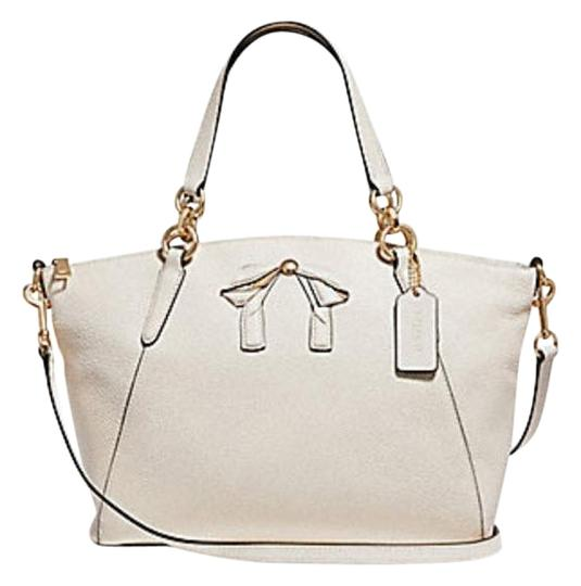 Coach Kelsey Pebbled Leather Crossbody Satchel in white Image 0