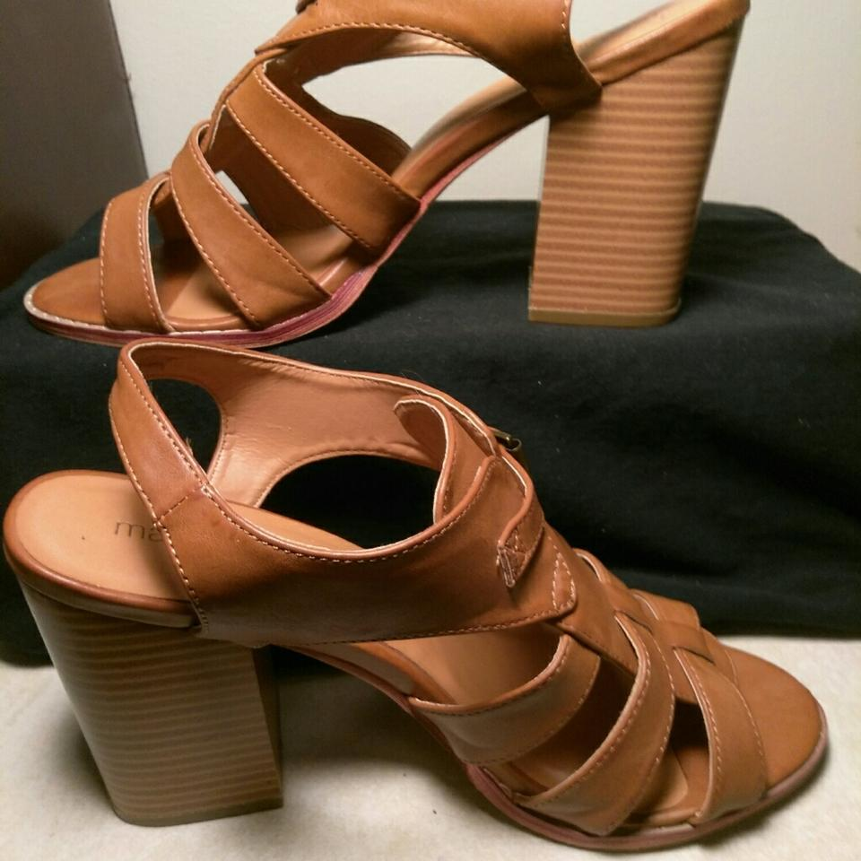 ebdc62db2a14 Maurices Caramel Brown Wooden Straps   Buckles Wedges Size US 11 Regular  (M