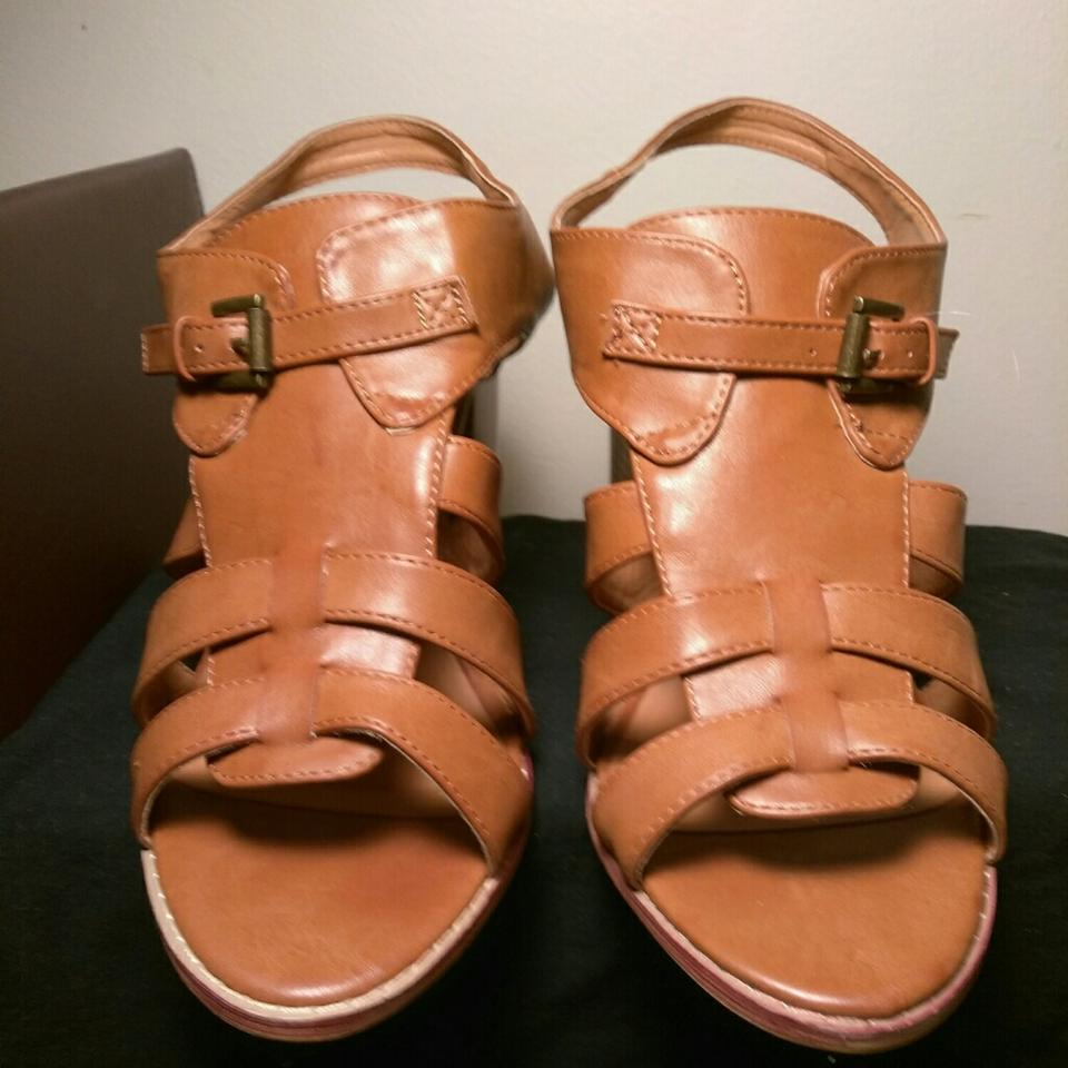 2d000949ac2c Maurices Caramel Brown Wooden Straps   Buckles Wedges Size US 11 ...