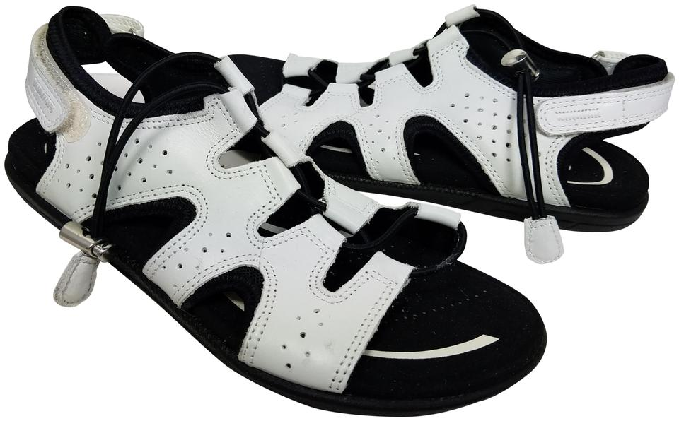 eac9f88cc0f11 Ecco White/ Black Womens Bluma Toggle Gladiator White/ Leather Sandals Size  US 8 Regular (M, B)
