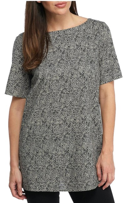 Item - Pebble/Black Droplet Printed Organic Cotton S Tunic Size 6 (S)