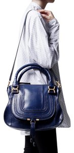 Chloé Leather Satchel in Blue Velvet