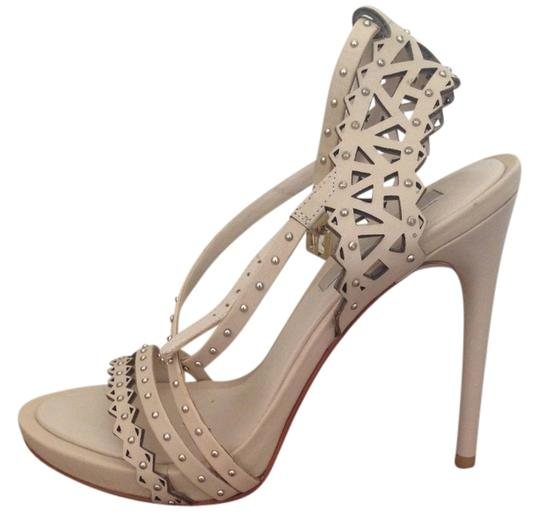 BCBGMAXAZRIA Leather Studded Nude Formal