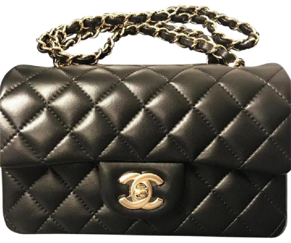 d623597b93f921 Chanel Classic Flap Quilted New Mini Rectangular Hardward Black/Rose ...