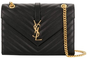 Saint Laurent Quilted Gold Hardware Chain Shoulder Bag