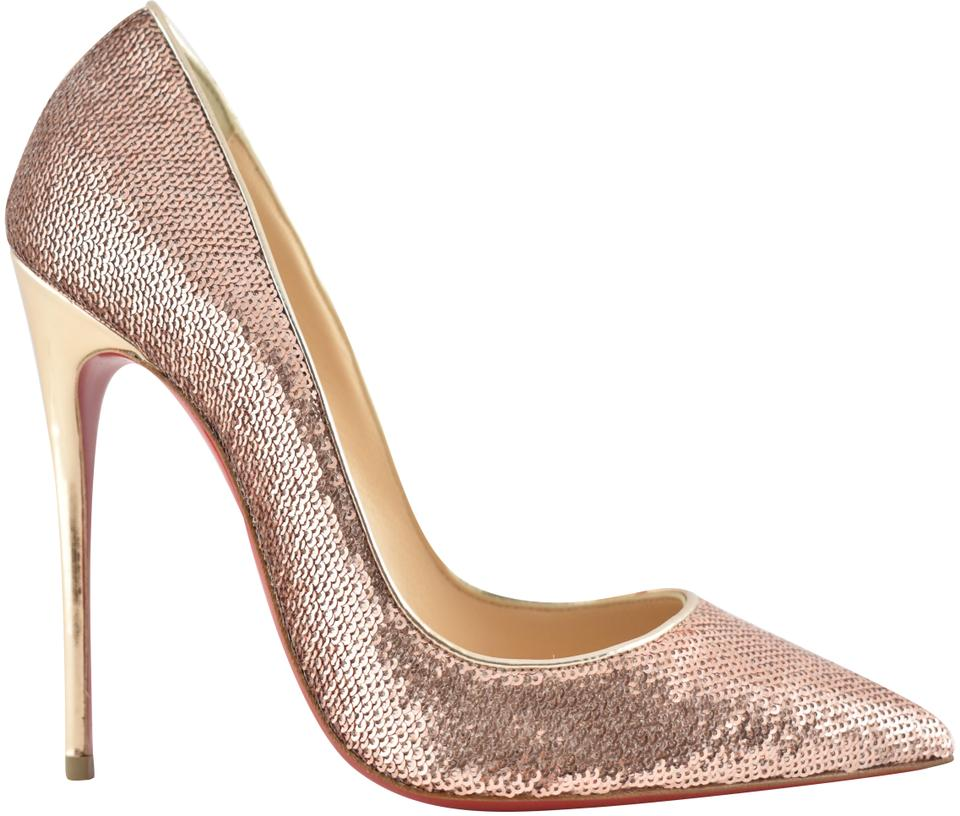 296d87b13cd5 Christian Louboutin Sokate Kate Pigalle Stiletto Patent nude Pumps Image 0  ...