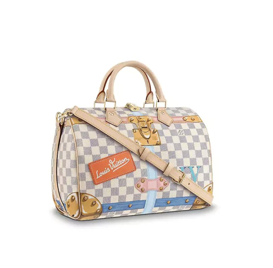 3bb0d53ac558 Louis Vuitton Speedy Bandouliere 30 Summer Trunk Leather Hobo Damier ...