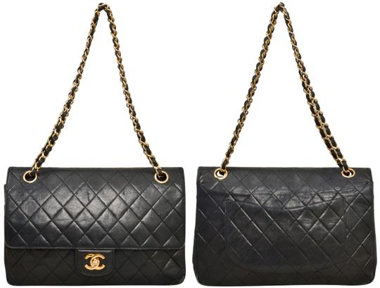 Chanel Quilted Lambskin Double Flap Shoulder Bag