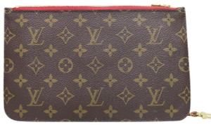 Louis Vuitton Monogram Neverfull Pochette Canvas brown Clutch