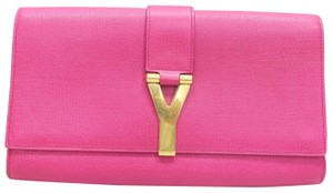 Saint Laurent Ysl Chyc Fuchsia Shoulder Bag