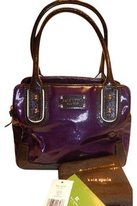 Kate Spade Tote New With Tags Satchel in Dark African Purple/Mahogany Brown/White/Gold