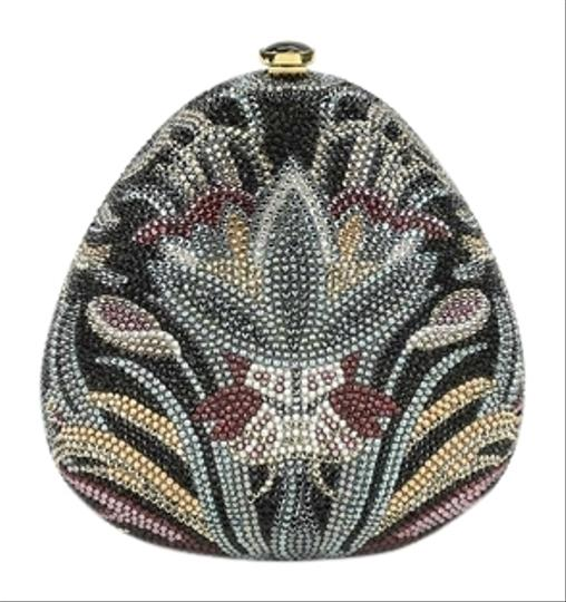 Judith Leiber Hand Beaded Multi-color Clutch