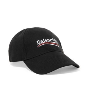 Balenciaga logo embroidered cotton twill baseball hat