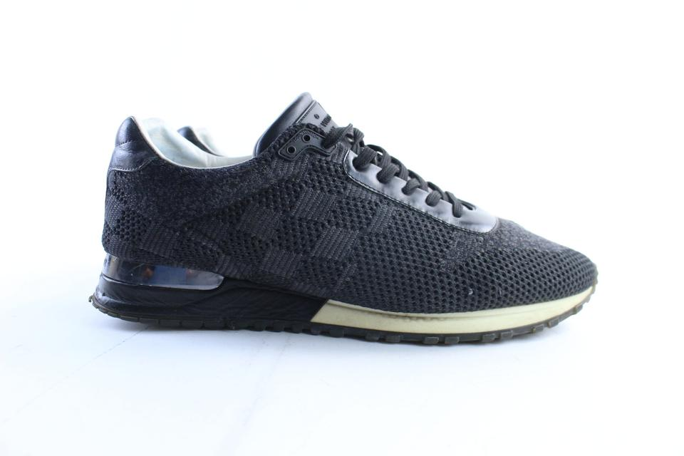 168611963989 Louis Vuitton Black Damier Graphite Runaway Trainer Sneaker (Mens 9 ...