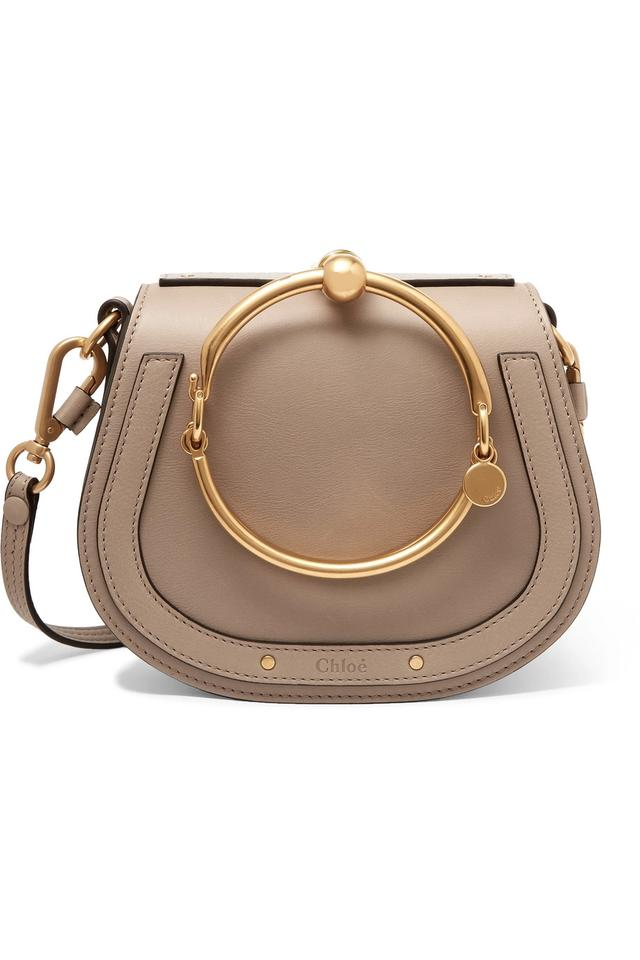 2433ba74e6 Chloé Nile - Small Bracelet Gray Leather and Suede Cross Body Bag 12% off  retail