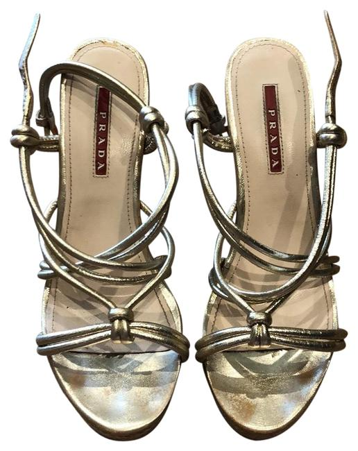 Item - Silver/Gold Wedges Size EU 36.5 (Approx. US 6.5) Narrow (Aa, N)