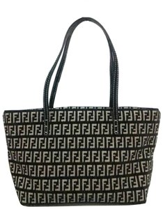 Fendi Shopper Neverfull Roll Spalmati Ff Tote in Black