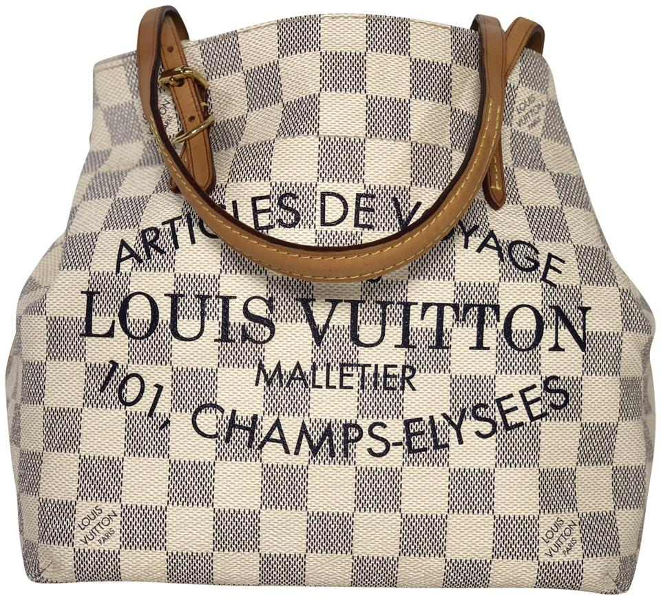 8b7931e80aff Louis Vuitton Cabas Cabas Damier Canvas Cabas Pm Articles De Voyage Tote in  White Image 0 ...