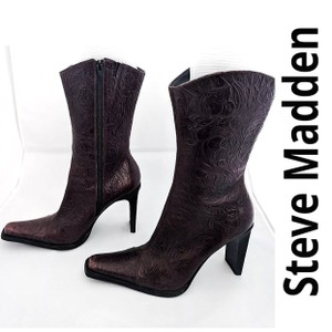 Steve Madden Vinatge Leather Leather dark brown Boots