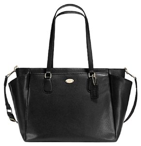 Coach 57786 Brown Carryall Black Diaper Bag