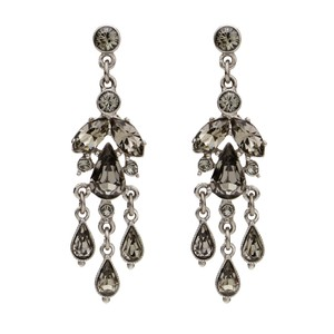 Ben-Amun Grey Smoke Petite Colorful Chandelier Earrings