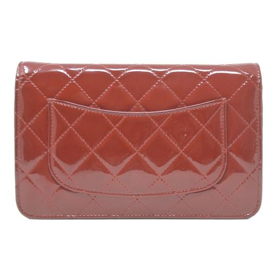 Chanel Patent Leather Shoulder Red Clutch Image 2