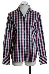 Foxcroft Button Down Shirt Black, Maroon, White