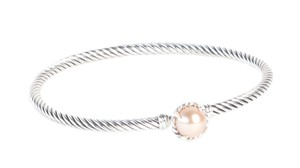 David Yurman Chatelaine Bracelet with Pink Pearl 3mm Size Medium $350 NWOT