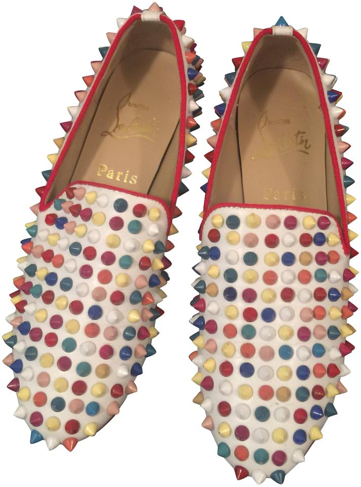 brand new 5c631 525dc Christian Louboutin Multi Color Roller Spikes Loafers Pumps Size EU 35  (Approx. US 5) Regular (M, B)