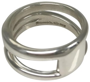 Tiffany & Co. Tiffany & Co. Sterling Silver Size 10.25 Wide Diagonal Band Ring