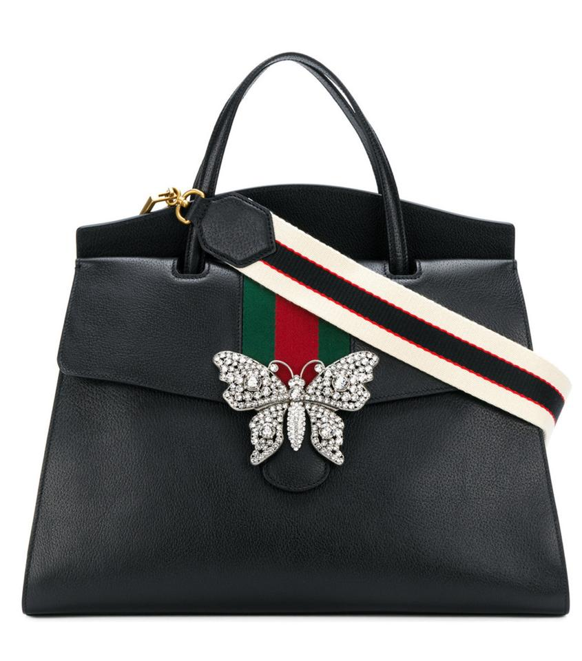 9ba57def9aa1 Gucci Linea Linea Satchel in Large Totem Butterfly Clasp Black Convertible  Image 0 ...