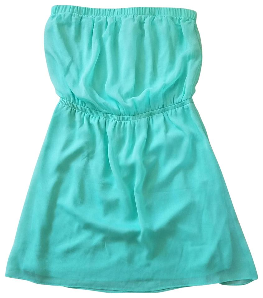 9692c193d4a Express Green   Teal 90130 Short Casual Dress Size 10 (M) - Tradesy