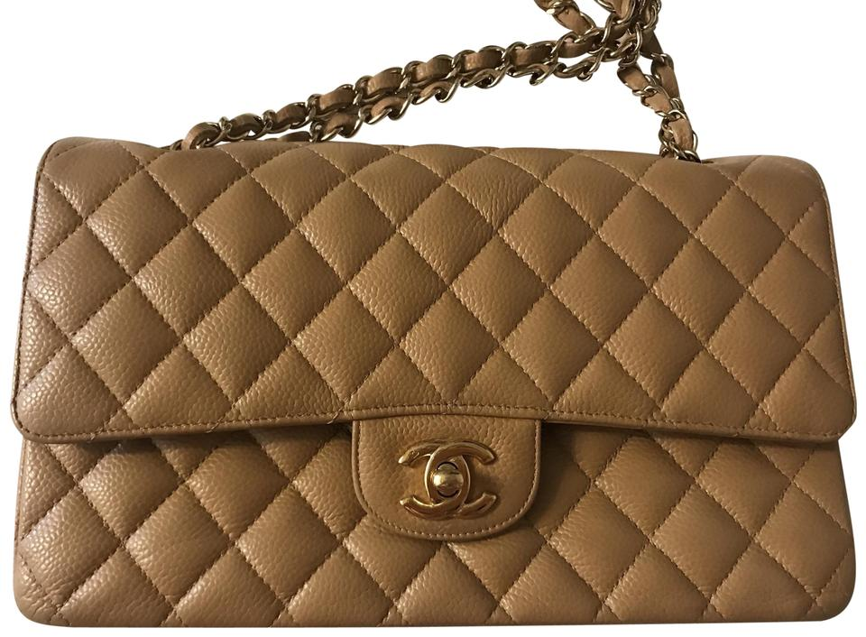 ff18f37b1bc4ce Chanel 2.55 Reissue Classic Cc Medium Quilted Double Flap Caramel ...