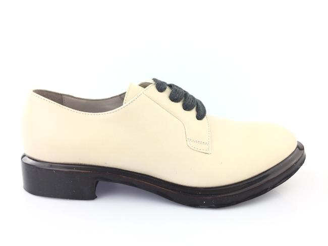 Item - Cream Womens Light Leather Lace Up Oxfords Sandals Size EU 37 (Approx. US 7) Regular (M, B)