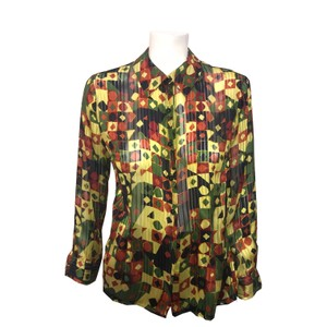 Luca Luca Vintage Button Down Shirt Multi-Color