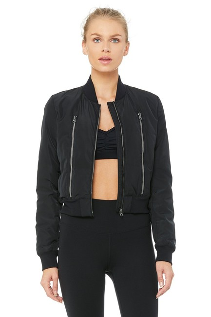 Item - Black Off - Duty Bomber Activewear Outerwear Size 12 (L)