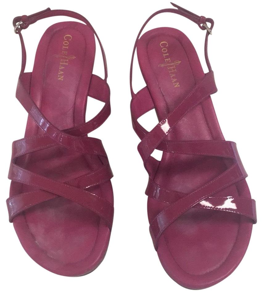 1c25afed81fdab Cole Haan Raspberry Nike Air Strappy Wedge Sandals Size US 9 Regular ...