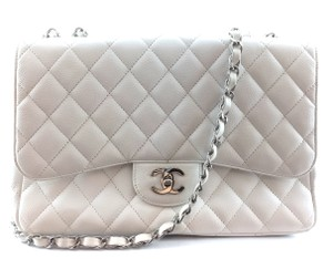 Chanel Caviar Silver Hardware Shw Quilted Cross Body Bag