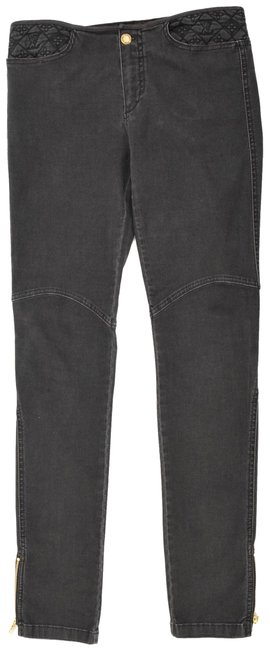 Item - Black Dark Rinse Embroidered Skinny Jeans Size 29 (6, M)