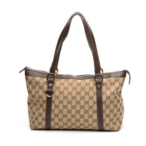 Gucci Gg Canvas Abbey Tote in Brown