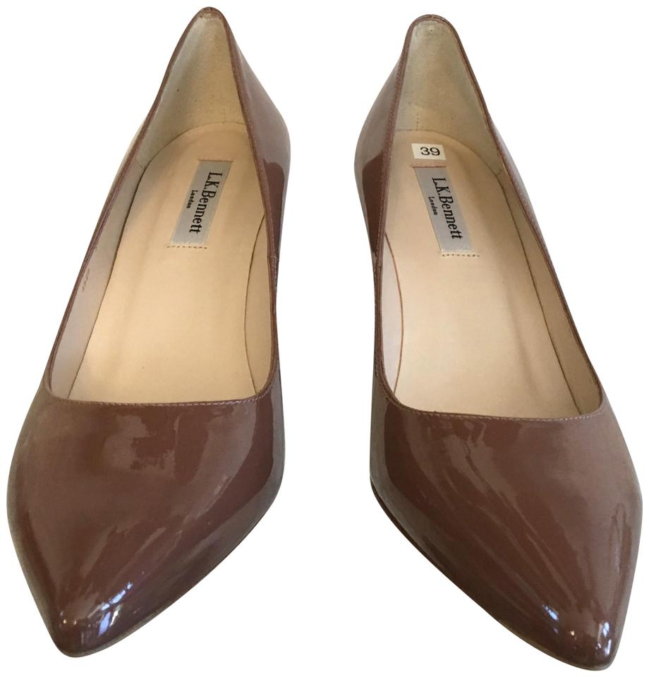 42dacca4236e L.K. Bennett Brown L Dark Nude Patent Leather Pumps Size EU 39 ...