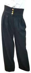 Chanel Vintage Wool Trouser Pants Black